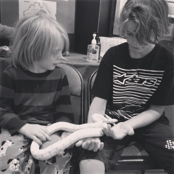 Brothers with Snakes